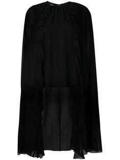 полупрозрачная блузка-кейп  Giambattista Valli