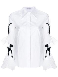 приталенная рубашка с вышивкой на рукавах Vivetta