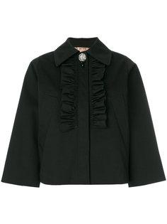 укороченный пиджак с оборкой  Nº21