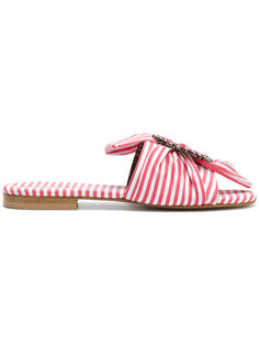 embellished striped sandals Emanuela Caruso