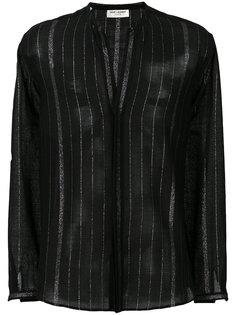 полосатая рубашка с воротником-мандарин Saint Laurent