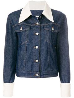 джинсовая куртка с контрастной отделкой  Mm6 Maison Margiela