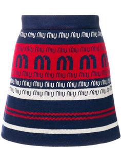 мини-юбка с логотипом  Miu Miu