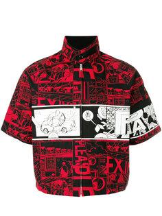 куртка с принтом комиксов Prada