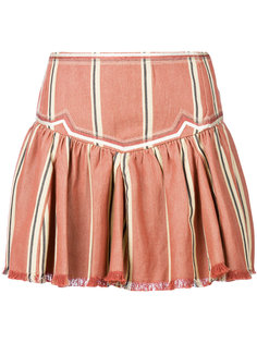 мини-юбка в полоску с оборкой  Isabel Marant Étoile