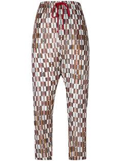 укороченные брюки с узором  Isabel Marant Étoile