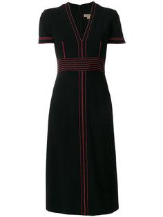 платье с контрастной строчкой  Burberry