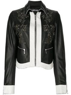 кожаная куртка с заклепками Just Cavalli