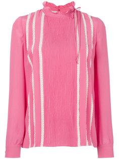 блузка с оборкой на вороте  Valentino