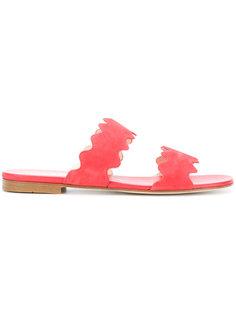 сандалии с фестончатой отделкой Prada