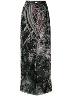 брюки с принтом nature Just Cavalli