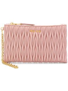 quilted top zip wallet Miu Miu