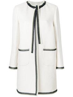 пальто с контрастной отделкой  Ermanno Scervino