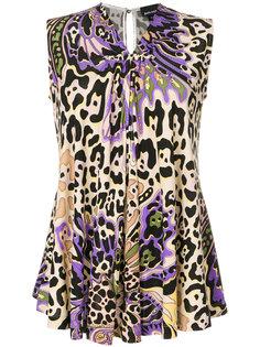 блузка с V-образным вырезом Just Cavalli