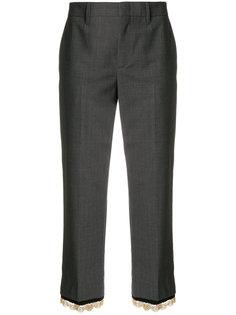 брюки с отделкой  Prada