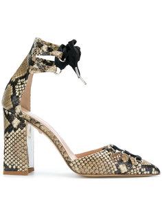 туфли с эффектом змеиной кожи Just Cavalli