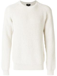 классический вязаный свитер A.P.C.