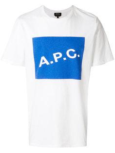 logo T-shirt  A.P.C.