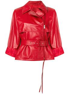 байкерская куртка с поясом Prada