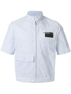 полосатая рубашка на молнии Prada