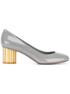 туфли на каблуках металлик Salvatore Ferragamo