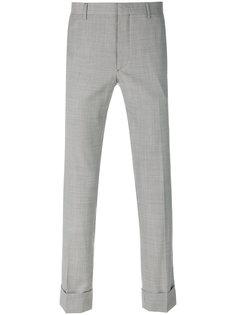 укороченные брюки  с мелким узором Prada