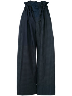 брюки с клетчатым узором со стяжкой на талии Stella McCartney