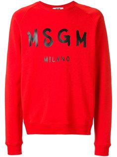 branded sweatshirt MSGM