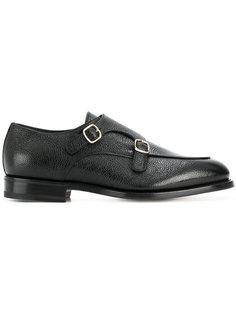 туфли-монки с пряжками Santoni
