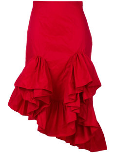 асимметричная юбка с воланами Marquesalmeida