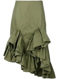 юбка-миди с воланами Marquesalmeida