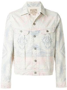 джинсовая куртка с орнаментом Polo Ralph Lauren