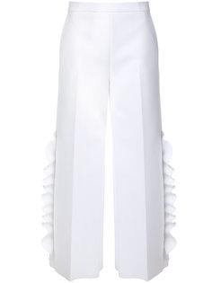 укороченные брюки с оборками  MSGM