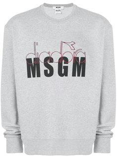 толстовка с логотипом MSGM X Diadora MSGM