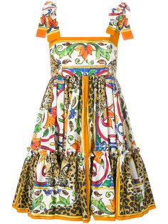 платье мини с принтом Majolica Dolce & Gabbana