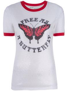 футболка с бабочкой  Off-White