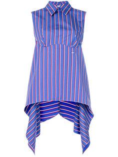 асимметричная блузка в полоску  Off-White