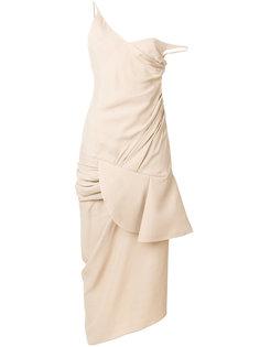 платье миди с драпировкой  Jacquemus
