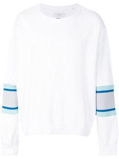 пуловер с контрастными рукавами  Facetasm