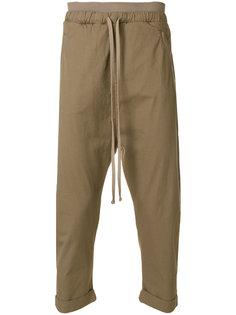 укороченные брюки  с заниженной проймой Thom Krom