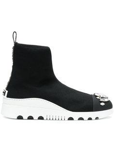 кроссовки с кристаллами Miu Miu