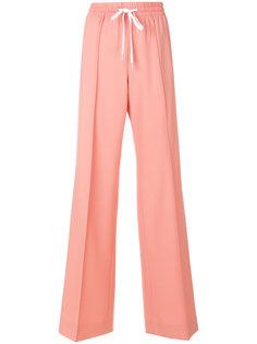 брюки с эластичным поясом Miu Miu