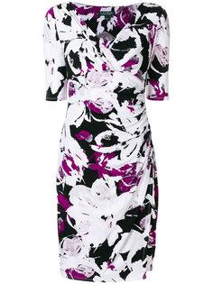 приталенное платье с V-образным вырезом  Ralph Lauren