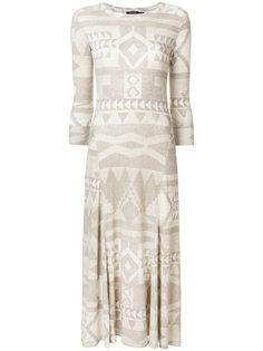 платье макси с узором фэйр-айл  Polo Ralph Lauren