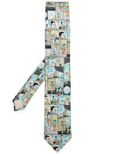галстук с принтом комиксов Prada