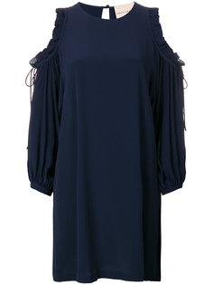 платье с вырезами на плечах  Erika Cavallini
