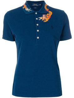 футболка-поло с вышивкой дракона Polo Ralph Lauren