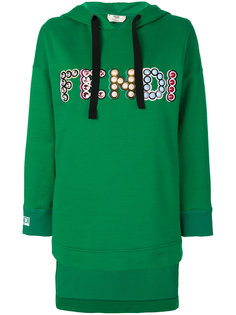 logo hooded sweatshirt Fendi