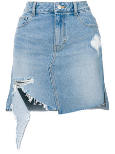 distressed denim skirt SJYP