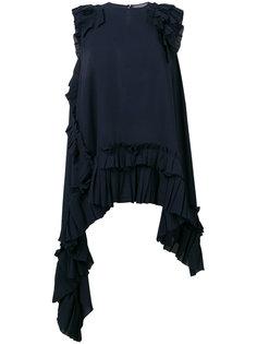 асимметричная блузка с рюшами Alexander McQueen